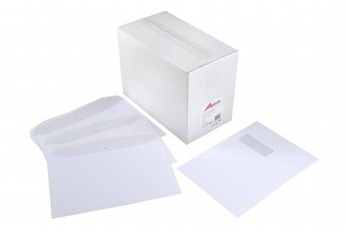 Autofil Envelope White Wove 90gm C5 162x229mm Gummed Flapped Window Boxed 500