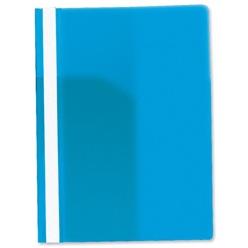 Rexel Data Flat File PVC with Title Strip and Full Back Pocket A4 Blue Ref 12600BU [Pack 25]