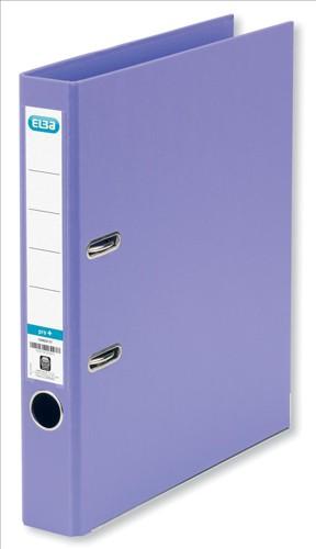 Elba Mini Lever Arch File PVC 50mm Spine A4 Purple Ref 100082432 [Pack 10]