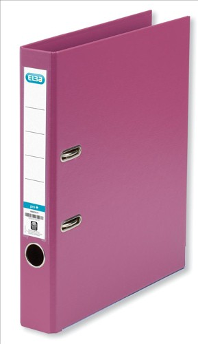 Elba Mini Lever Arch File PVC 50mm Spine A4 Pink Ref 100082433 [Pack 10]