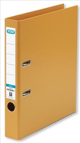 Elba Mini Lever Arch File PVC 50mm Spine A4 Orange Ref 100082435 [Pack 10]