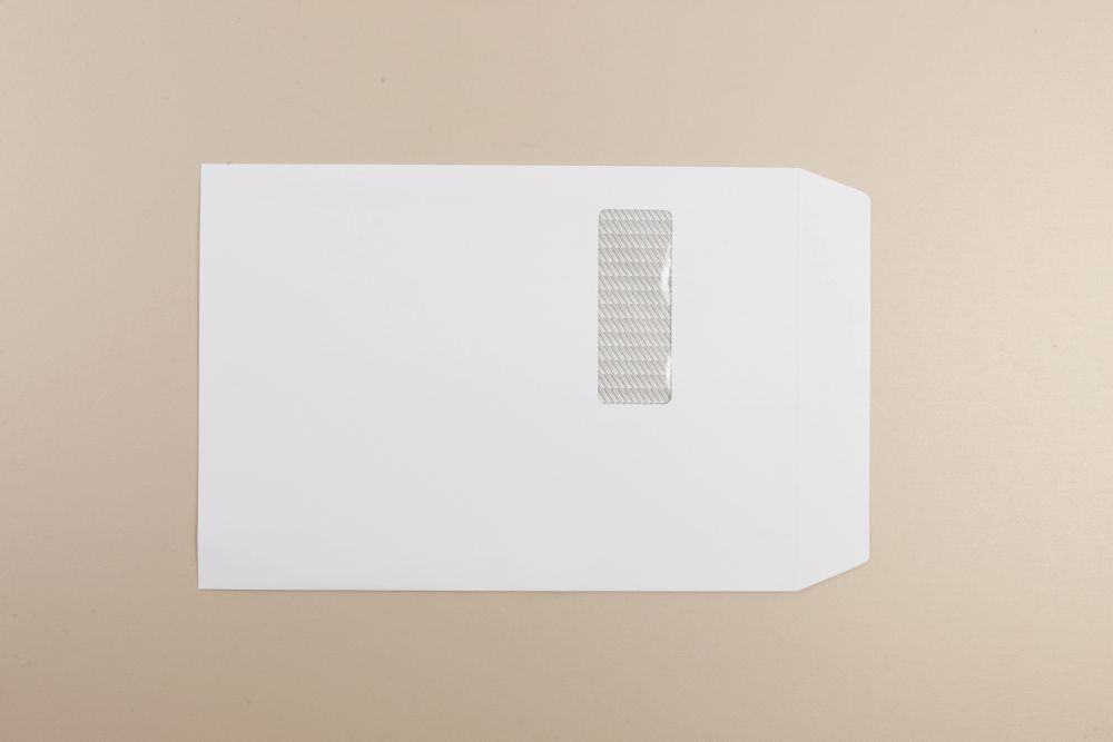 Communique Envelope White Envelope 120gm C4 324x229mm Self Seal Box250 Wdw 213Up 24Lhs