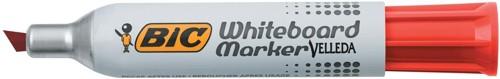 Bic 1781 Whiteboard Marker Chisel Tip Line Width 3.5-5.5mm Red Ref 1199178103 [Pack 12]