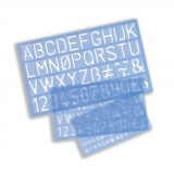 Stencil Pack of of Letters Numbers and £/p Symbols 10mm 20mm 30mm