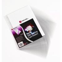 Rexel Card Holder Nyrex Open on Short Edge 95x64mm Ref 12010 [Pack 25]