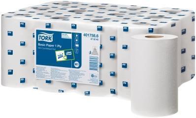 Reflex Mini Centrefeed Rolls Tissue 1-ply 200mm x 125m Ref 4017582 [Pack 12]