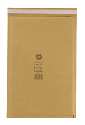 Jiffy Mailmiser Protective Envelopes Bubble-lined No.6 Gold 290x445mm Ref JMM-GO-6 [Pack 50]