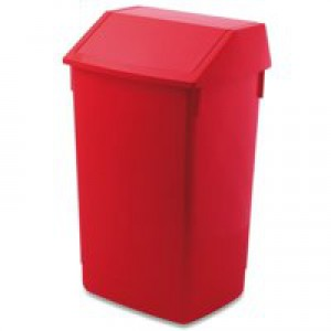 Addis 54 Litre Flip Top Composite Plastic Bin Red Code 510800