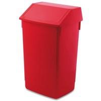 Addis 54 Litre Flip Top Recycling Bin Red 510800