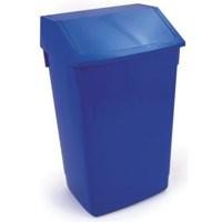 Flip Top Bin Composite Plastic 54 Litres Blue
