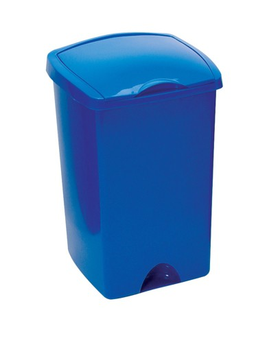Lift Up Top Bin Composite Plastic 48 Litres Blue