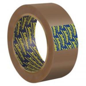 Sellotape Case Sealing Tape Vinyl 50mmx66m Buff Code 503846