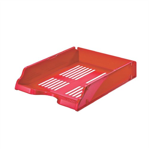 Esselte Transit Letter Tray W245xD330xH60mm Red Ref 15656