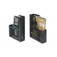 Image for Magazine Rack File Durable Polystyrene A4 Black [Pack 10]