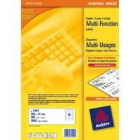 Avery Copier Labels 105x37mm 16 per Sheet White 1600 Labels Code 3484-100