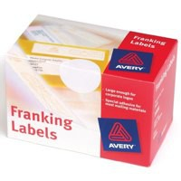 Avery Franking Labels 2 per sheet 140x38mm White Ref FL01 [1000 Labels]