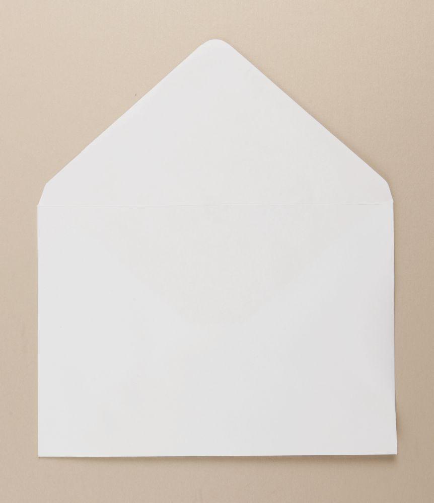 Xmas Greetings Card Envelope White C5 162x229mm 100Gm Gummed  Boxed  500