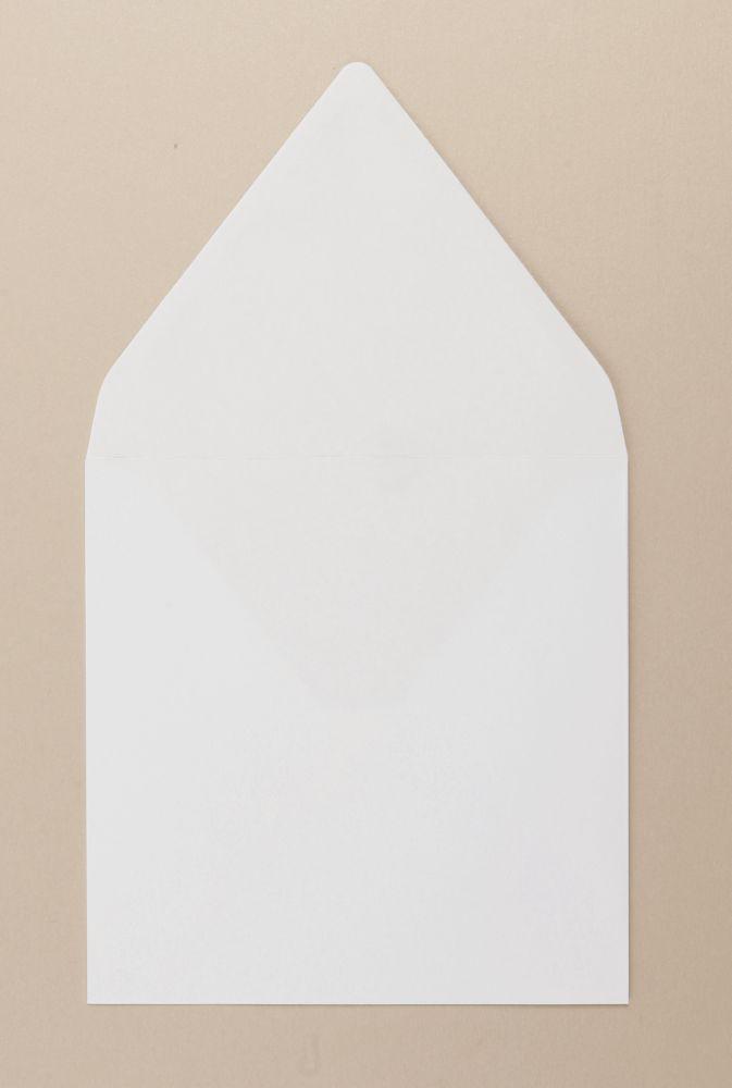 Xmas White Greetings Card FSC4 Envelope Gummed 155x155mm 100Gm2 Diamond Flap Boxed 500