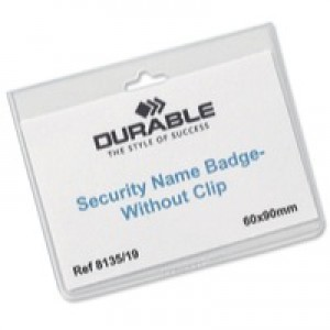 Durable Name Badges Security Without Clip 90x60mm Code 8135/19