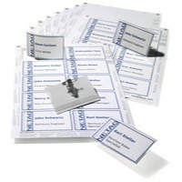 Durable Name Badge Set Combi Clip Assorted 20 Badges 54x90mm and 3 Insert Sheets Ref 8182-00