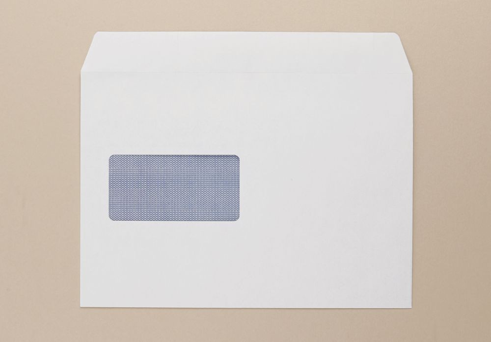 Graphic Envelopes GVB20625 White Window Self Seal Wallet C5 162x229mm 90gm Pack 500