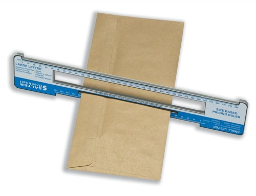 Salter Size Based Pricing Ruler Pricing in Proportion Postal Rate Tool ABS Plastic Ref SBPR001