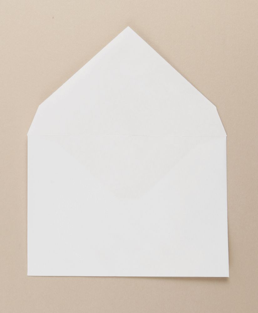 Xmas White Christmas Card Envelope Gummed C6 114x162mm 100gm Boxed 500
