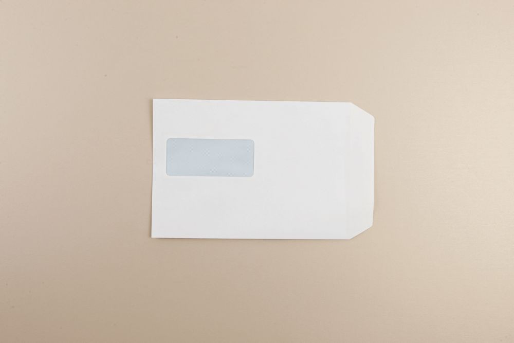 White Wove Envelope 90gm C5 229x162mm Self Seal Window 15Up 46Lhs Pack 500