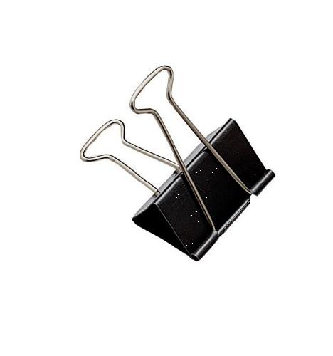Whitecroft Foldback Clip 24mm Black Ref 22781 [Pack 100]