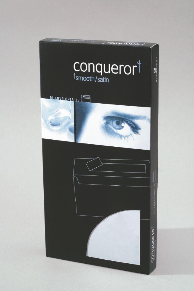 Conqueror Envelope Texture Laid 120gm Brilliant White DL SuperSeal Pack 25