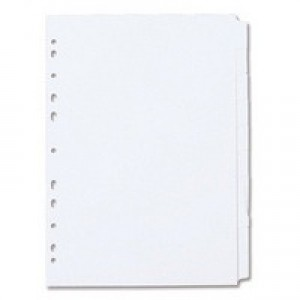 Concord Subject Dividers 230 Micron Punched 11 Holes 10-Part A4 White Ref 79701/97