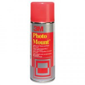 3M PhotoMount Adhesive Spray Can CFC-Free Non-Yellowing 400ml Ref PMOUNT