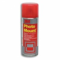 3M PhotoMount Adhesive Spray Can CFC-Free Non-Yellowing 200ml Ref HPMOUNT