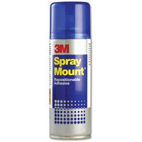 Image for 3M SprayMount Adhesive Spray Can CFC-Free Non-staining 200ml Ref SMOUNT