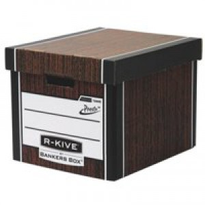 Fellowes R-Kive Premium 726 Archive Storage Box W330xD381xH298mm Woodgrain Ref 7260502 [Pack 10]