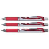 Pentel Energel XM Metal Tip Rollerball Pen 0.7mm Red BL57-B