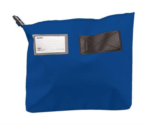 Versapak Mailing Pouch Gusseted Bulk Volume Sealable with Window PVC 470x335x75mm Blue Ref CG3 BL