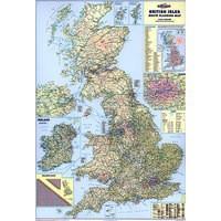Map Marketing British Isles Motoring Map Unframed 12.5 Miles/1in Scale 830x1200mm Code BIM