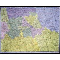 Image for Map Marketing Postal Districts of London Map Unframed 1 Mile/inch W1180x930mm Ref GLPC