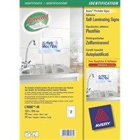 Avery Self-Laminating Adhesive Sign 100x150mm White L7086-10