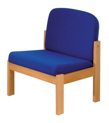 Trexus Reception Chair Beech Cushioned Backrest H430mm Seat W570xD580xH410mm Blue