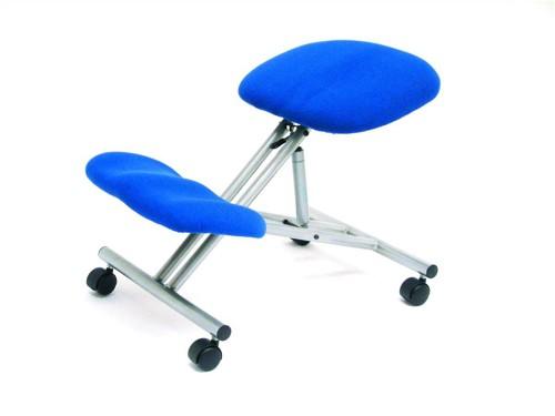 Trexus Kneeling Office Chair Steel Framed on Castors Gas Lift Seat H480-620mm Blue