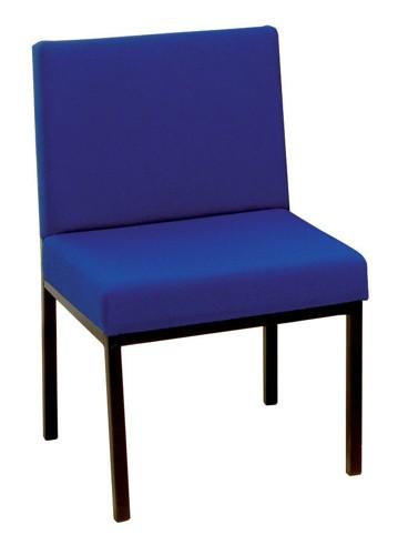 Trexus Reception Chair Traditional Metal Deep-cushioned W520xD660xH790mm Blue