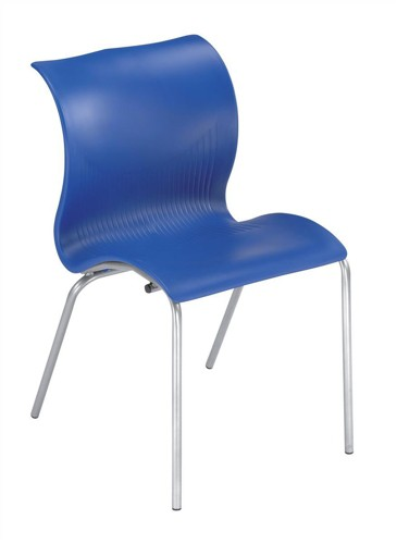 Trexus Stacking Chair Lightweight Stackable W440xD400xH800mm Blue