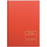 Collins Cathedral Red Analysis Book 10 Cash Columns Across Opening 96 Pages Code 69/10.1