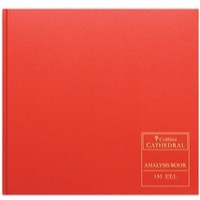 Collins Cathedral Red Analysis Book 20 Cash Column 96 Pages Code 150/20.1