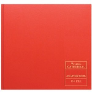 Collins Cathedral Red Analysis Book 27 Cash Column 96 Pages Code 150/27.1