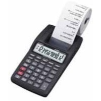 Casio Mini-Print Calculator 12-digit Black HR-8TEC-W-E