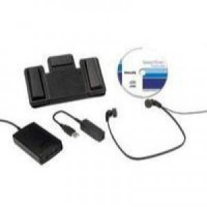Philips Transcription Kit Software Headset 234 Foot Control 210 USB Adaptor and Dongle Code LFH7177