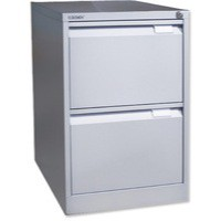 Bisley BS2E Filing Cabinet Flush Front 2 Drawer Goose Grey
